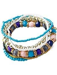 La Cabina Bracelet Bijou Fantaisie Femme et Homme à la Mode Style National  Bracelet de Poignet Bangle en Perles… 4d44136bcec