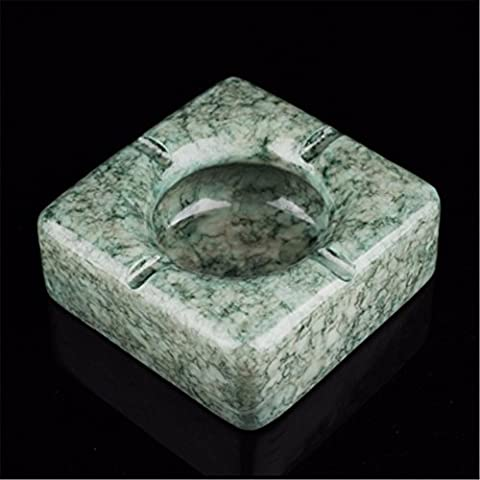 Fashion creative ashtray fashion retro imitation jade living room bedroom entrance smoke ashtray, green 118 *