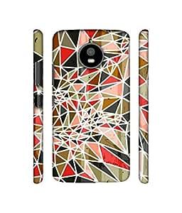NattyCase Patterns Art Design 3D Printed Hard Back Case Cover for Motorola Moto E4 Plus