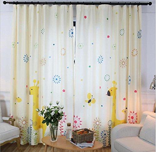 Dbtxwd tende per bambini 3d giraffe semi-ombreggiato tessuti isolati a pieghe ragazzi e ragazze camera da letto decorazione tende da finestra (1 pannelli)