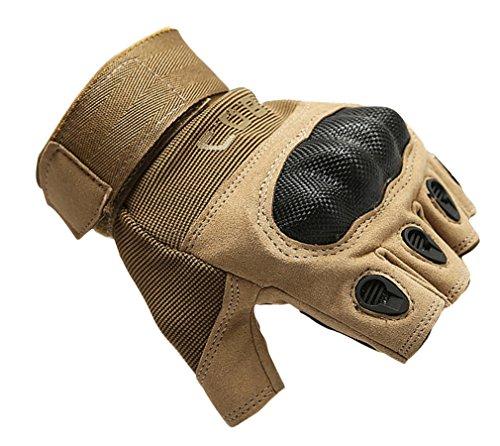 Hikong Herren Taktische Einsatzhandschuhe Handschuhe Sport Outdoor Fitness Training Fahrrad Motorrad Army Gloves Halbfingerfinger 3 Farben Breite Breite Stiefel Arbeit Für Männer