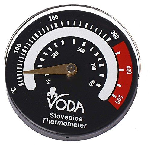 Voda magnetisch Ofenrohr Rohr Thermometer Temperaturanzeige für Log/Holz Brenner