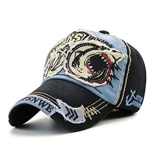 Klassischer Patch-Baseball-Kappe für Damen und Herren, Mode Casual Hut,Blue