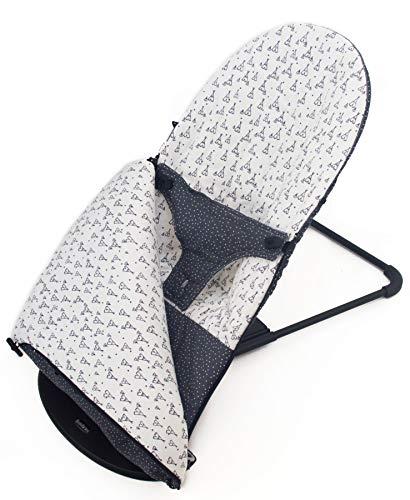 Funda y SACO para Hamaca BabyBjörn Balance Soft (Sustituye tapicería original). Varios diseños disponibles (Tipis gris antracita)