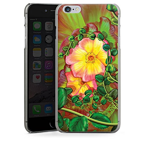 Apple iPhone 7 Tasche Hülle Flip Case Blume Blüten Efeu Hard Case anthrazit-klar