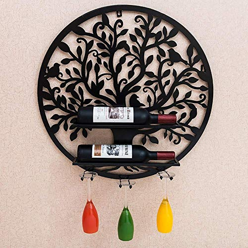 DYOYO Wine Glass Rack Classic Elegant Wine Cup Rack Hanging Mounted Wine Champagne Glass Freestanding Stemware Rack Display Holder Home Bar Tool -