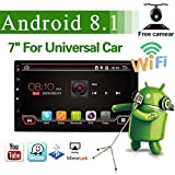 Latest Android 8.1 Quad Core 7 Inch HD 1024 * 600 Touchscreen Universal Car Radio Navigation Stereo Entertainment Multimedia FM/AM/RDS Radio/GPS/WIFI/Bluetooth/Mirror Link(No DVD Player!)