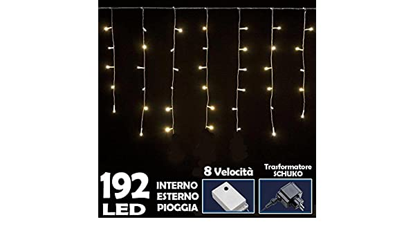 Bakaji lighting tenda luminosa natalizia 192 led luce bianco caldo 3