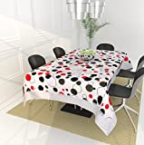 #3: Shri Anand Creations Black and White Water Proof/Oil Proof Table Cover/Table Cloth for Center Table/Dining Table