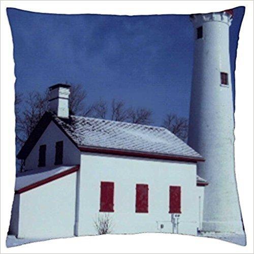 Doormat bag STURGEON POINT LIGHTHOUSE - Throw Pillow Cover Case (18