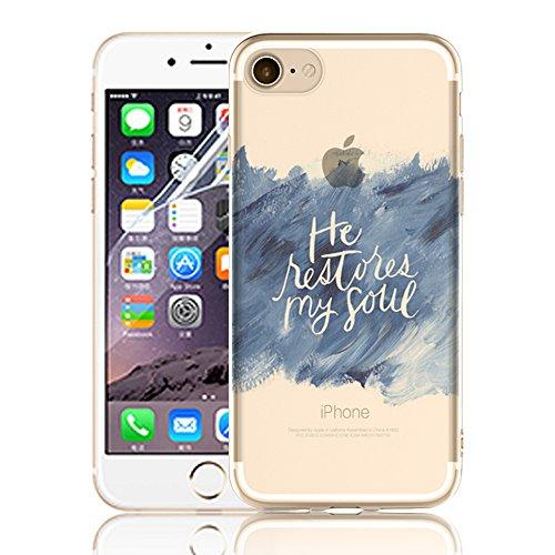 Ultra Sottile Custodia per iPhone 7 Plus iPhone 7 Plus, Cover per iPhone 7 Plus, Sunroyal Creativa Wave Cover Morbido Flessibile TPU Silicone Gel Protettivo Skin Caso Custodia Protettiva Shell Case Co Model 16