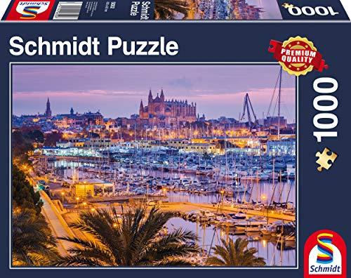 Schmidt Spiele Puzzle 58302 58302-Altstadt und Hafen, Palma de Mallorca, 1.000 Teile Puzzle, bunt