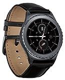 Samsung Gear S2 Classic Watch Band, Fotowelt vera pelle cinghia del cinturino di ricambio per ingranaggi S2 Classic intelligente Watch, FIT per SM-R732 / R7320 - nero