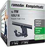 Rameder Komplettsatz, Anhängerkupplung abnehmbar + 13pol Elektrik für VW Golf VI (113021-07873-2)
