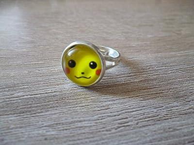 Bague - Cabochon 12 mm ø - Pikachu