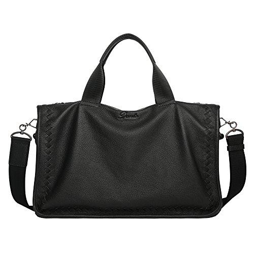 Dante Leisure Top Grain Goat Skin Clutch Men's Weave Leather Handbag Crossbody Messenger Bag - Top Thread