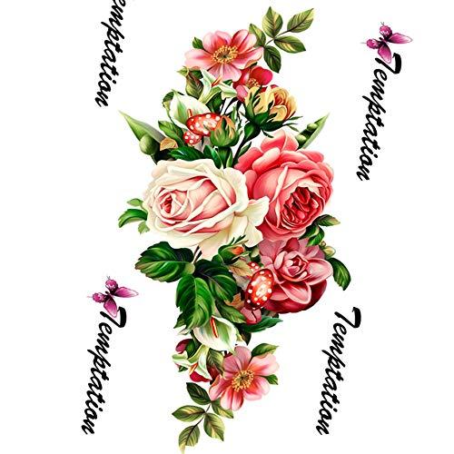 Provide the best rose fiori braccio spalla tatuaggi saloni di bellezza make up falso temporaneo impermeabile manubrio sticker