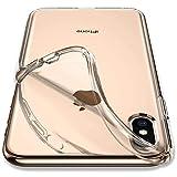 Spigen Coque iPhone XS, Coque iPhone X [Liquid Crystal] Transparente, Souple en Silicone, Adhérence Parfaite, Anti-trace compatible avec iPhone XS/X