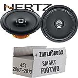 Hertz DCX 165.3-16cm Koax Lautsprecher - Einbauset für Smart ForTwo 451 Front - JUST SOUND best choice for caraudio
