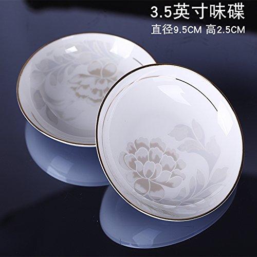 YUWANW Continental Gerichte Haushalt Besteck-Sets 58Bone China Geschirr Gerichte Einfach Western Jingdezhen Keramik Teller, 8,9cm weidie