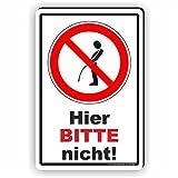 WILDPINKELN verboten / Hier bitte nicht - SCHILD / D-042 (20x30cm Schild)
