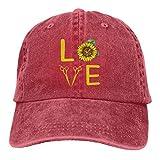 surce Coiffeur d'amour coiffé de Chapeau de Denim, Casquettes de Baseball Ajustables pour Papa Unisexe