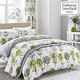 Catherine Lansfield Colcha Banbury Floral, Color Azul, Verde, Juego de Cama Individual