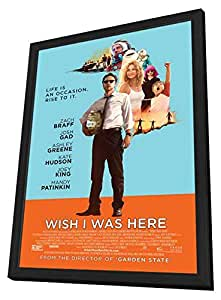 Wish I Was Here 27 x 40 Cadre Movie Poster (2014)