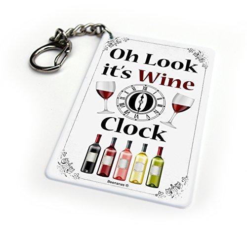 Wein O 'Uhr Funny Schlüsselanhänger