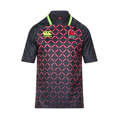 Canterbury England Official 17 18 7s Vapodri+ Alternate Pro Rugby Camiseta ba901de1b5fa3