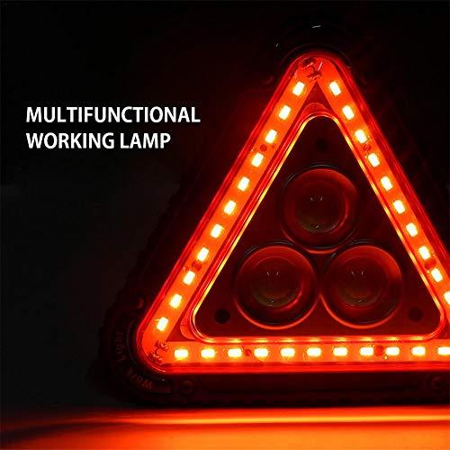 U-Smile Dreieck Verkehrswarnleuchte , Tragbares LED-Arbeitslicht Auto Rote Warnblinkanlage USB Wiederaufladbar Faltbar 4 Modi Dreieck Arbeitslicht Campingzelt Licht Notlicht