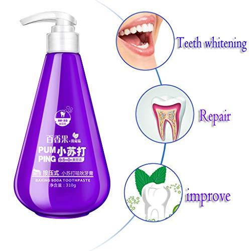 bloatboy 310g Fleckentfernung Whitening Zahnpasta Kampf Zahnfleischbluten Weiße Zahnpasta, Drücken Sie die Pumpenverpackung, Mundpflege (Lila) -