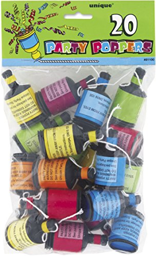 Party Poppers, Pack of 20