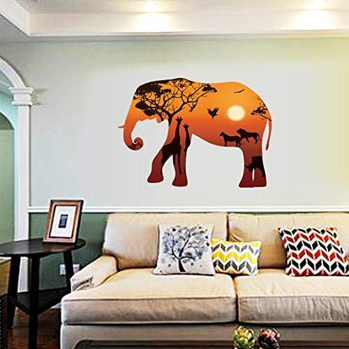 3D Tier Elefant Silhouette Wandaufkleber Kindergarten Wohnzimmer Hintergrund Wandbild Persönlichkeit Dekoration Aufkleber