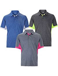 Woodworm Heather Golf Mens Golf Polo Shirts 3 Pack