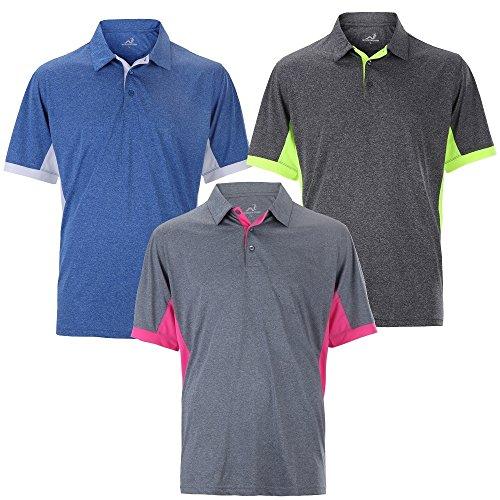 Woodworm Heather Golf Mens Golf Polo Shirts 3 Pack XL