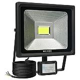 MEIKEE LED Motion Sensor Flood Light, 50W Security Lights with Motion Sensor, Super Bright 5000 Lumen, IP66 Waterproof, 12m PIR Sensor Distance, Ideal for Garden, Car Park, Forecourt and Outdoor