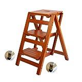 QRFDIAN Klappbarer Tritthocker Haushaltsklapp-Treppenstuhl - Leiterstuhl Doppelleiter - Leiterhocker Holzleiter (Color : 2#)