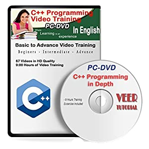 C++ Video Training (60 Vidoes, 9 Hrs) 1 DVD