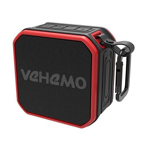 Altoparlante Bluetooth Portatili,Bluetooth Cassa Altoparlante Impermeabile da Doccia,Suono Stereo,Bluetooth 4.2 ,Per iphone,iPad,Samsung e Altri, vivavoce, microfono incorporato (Rosso)