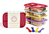 """Contenitori colorati per il pranzo  Perché non dare al vostro bambino questi semplici ma favolosi contenitori colorati per il pranzo? Ogni contenitore viene con un cucchiaio forchetta """"Spork"""" dello stesso colore, quindi il vostro bambino non..."""