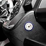Lantelme 7716 - Termometro per Auto, Autoadesivo, analogico, per Auto, Camion, Interno termometro, Colore: Blu