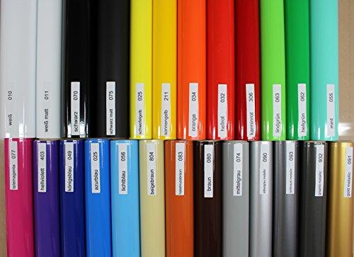 Finest Folia (2,48€/Meter) Aufkleber Streifen Stripes Dekor Zierleisten Zierstreifen Folie 30 Farben Farbwahl (075 Schwarz Matt)