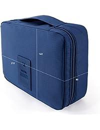 Uniquedealz Travel Cosmetic Makeup Toiletry Case Wash Organizer Storage Pouch - Blue