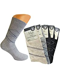 10 Paar Herren Socken Ohne Gummibund mehrfarbig mit Karo Muster / Herrensocken mehrfarbig / Men Socks black