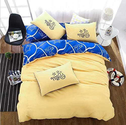 Simple Geometric Patter Einfarbig Bettwäsche Bettdecke Winter King Tröster Set Bettbezug Bettwäsche Gelb 150x200cm -