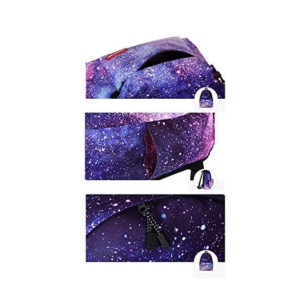 oyfel–Mochila de nailon a estrellas galaxia y estuche escolar Imprime ocio Cordón étnico indio flor floral hippie para niños Garcon niña hombre mujer College escolar deporte moto Ecole 1pcs 1 1