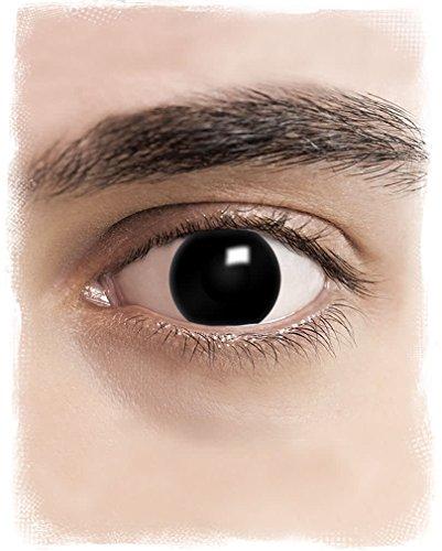 Kontaktlinsen für Halloween, ohne Stärke, für Kostüme Gr. Einheitsgröße, black out (At St Kostüm)
