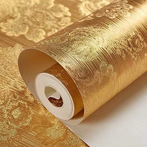 Accey carta da parati foglia oro carta da parati soffitto hotel a cinque stelle soffitto foglia oro carta verticale cilindrica colonna quadrata foglia oro carta da parati ktv @ a463