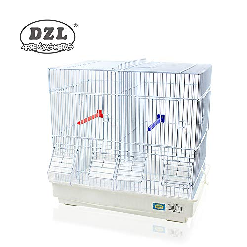 DZL Jaula para pajaros(42.5X29.5X40CM) (Blanco)